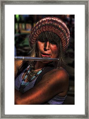 The Flutist Framed Print