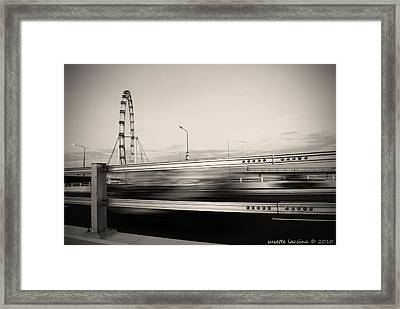 The Flyer Framed Print by Susette Lacsina
