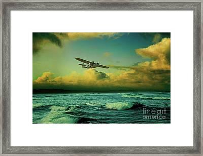 The Flying Boat Framed Print by J Biggadike