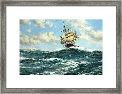 The Flying Clipper, Sir Lancelot Framed Print by Montague Dawson
