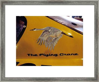 The Flying Crane Framed Print