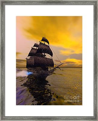 The Flying Dutchman Framed Print by Corey Ford