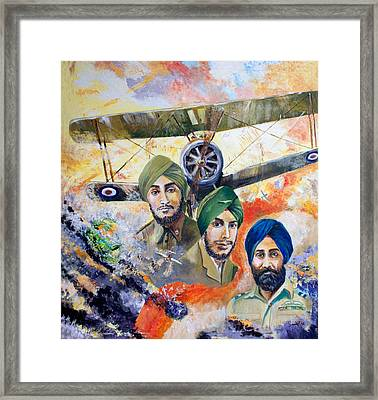 The Flying Sikhs Framed Print