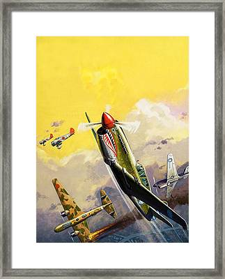 The Flying Tigers During The Spanish Civil War Framed Print by Severino Baraldi