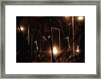 The Flying Trapeze 1980s Circus Framed Print