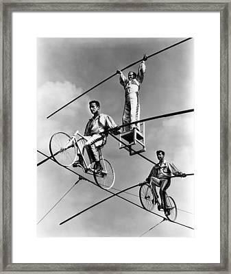 The Flying Wallendas, 1967 Framed Print by Everett