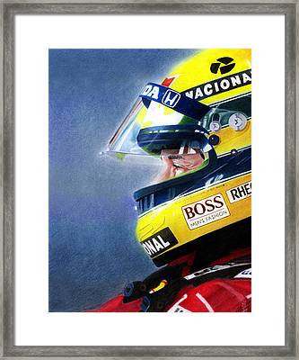 The Focus Of Ayrton Framed Print