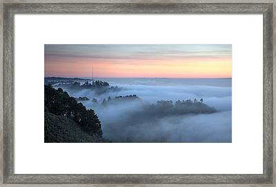 The Fog Kept On Rolling In Framed Print by Peter Thoeny