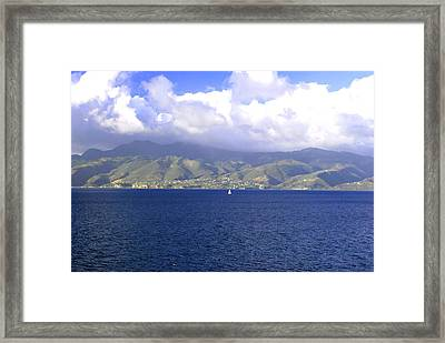 The Fog Lifts Framed Print