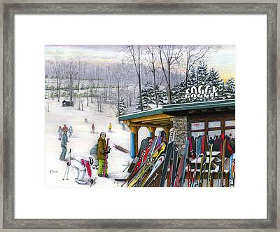The Foggy Goggle At Seven Springs Framed Print