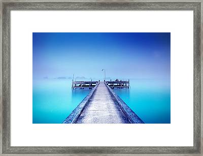 The Foggy Morning Framed Print