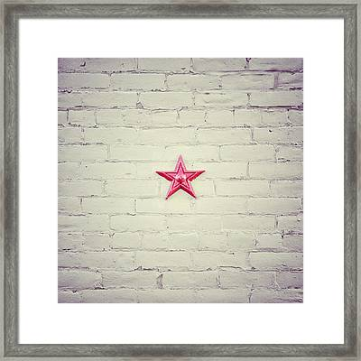 The Folk Star Framed Print