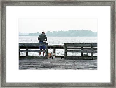The Folks - Fishing 1 Framed Print