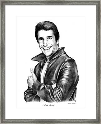 The Fonz Framed Print