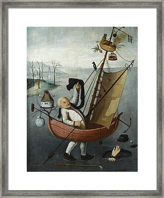 The Fool's Ship Framed Print by Follower of Hieronymus Bosch