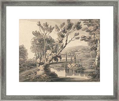 The Foot Bridge Framed Print