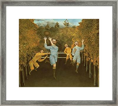 The Football Players Framed Print by Henri Rousseau