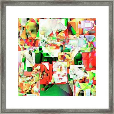 Framed Print featuring the photograph The Football Quarterback In Abstract Cubism 20170328 Square by Wingsdomain Art and Photography