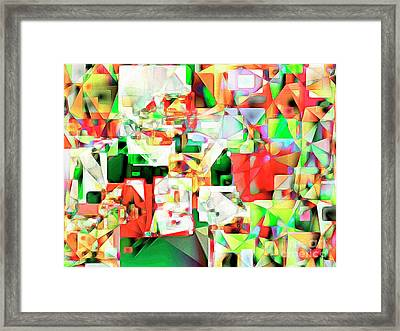Framed Print featuring the photograph The Football Quarterback In Abstract Cubism 20170328 by Wingsdomain Art and Photography