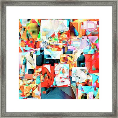 Framed Print featuring the photograph The Football Quarterback In Abstract Cubism 20170328c2 Square by Wingsdomain Art and Photography