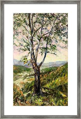 The Foothills Of The Carpathians.  Framed Print by Maya Bukhina