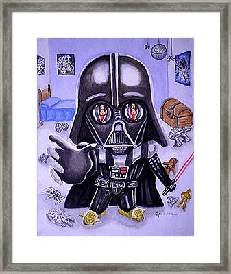 The Force Is Strong With This One Framed Print by Al  Molina