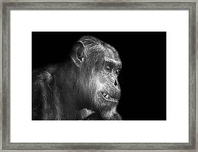 The Forced Smile Framed Print