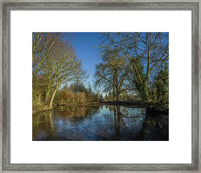The Ford At The Street Framed Print