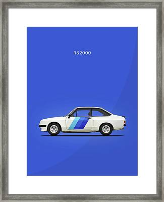 The Ford Escort Rs2000 Framed Print by Mark Rogan