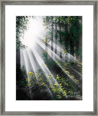 The Forest 01 Framed Print by Greg Moores