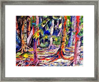 The Forest Before The Trees Framed Print by Patricia Bigelow