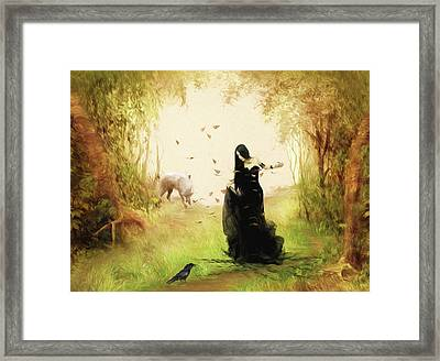 The Forest Fairy Framed Print by Sharon Lisa Clarke