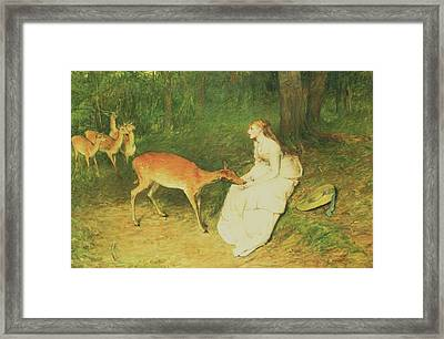 The Forest Pet Framed Print by William Quiller Orchardson