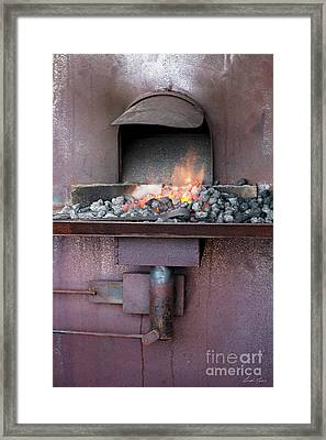 Framed Print featuring the photograph The Forge by Linda Lees