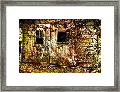 The Forgotten Garage Out Back Framed Print by Michael Eingle