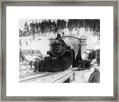 The Formal Opening Of The Moffat Framed Print by Everett