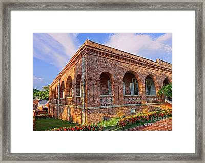 Framed Print featuring the photograph The Former British Consulate In Kaohsiung In Taiwan by Yali Shi