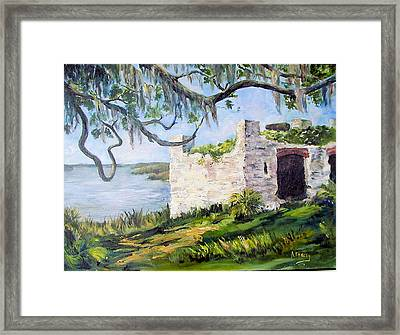 The Fort At Frederica Framed Print by Albert Fendig