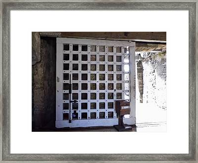 The Fort Door Framed Print
