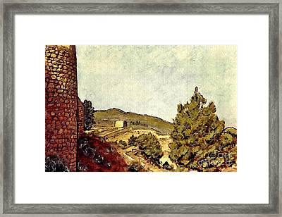 The Fort In Lorca Framed Print by Sarah Loft