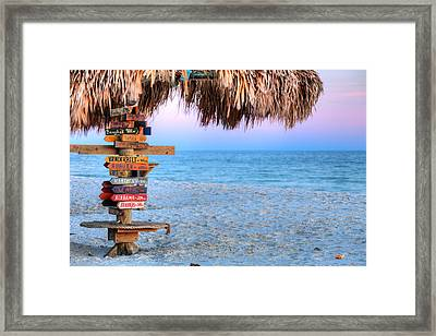 The Fort Morgan Tiki Bar Framed Print by JC Findley