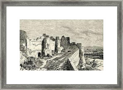 The Fortifications Of Carcassonne Framed Print by Vintage Design Pics