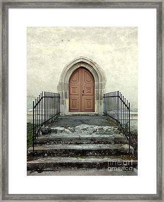 The Fortress Church's Side Door  Framed Print
