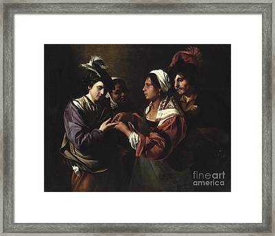 The Fortune Teller Framed Print by Bartolomeo Manfredi