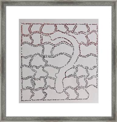 The Forty Questions Of The Jigsaw Thinker Framed Print by Contemporary Michael Angelo