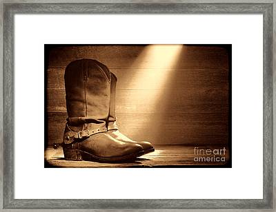 The Found Boots Framed Print