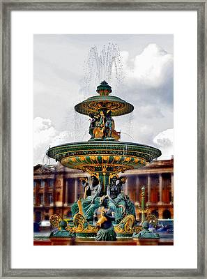 The Fountain At Le Concorde Framed Print by Greg Sharpe