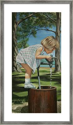 The Fountain Framed Print by Colleen  Maas-Pastore