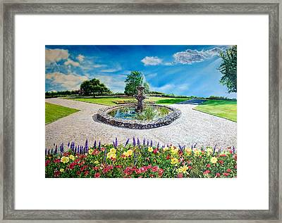 Gushing Fountain Framed Print