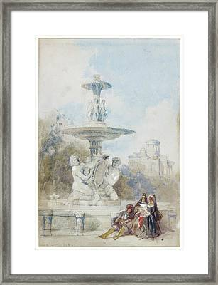 The Fountain Of The Artichoke Framed Print by MotionAge Designs